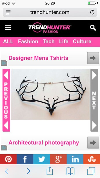 jewels necklace stag