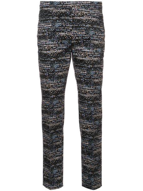 Akris punto cropped women spandex cotton black pants