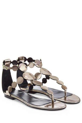 metallic sandals leather sandals leather multicolor shoes