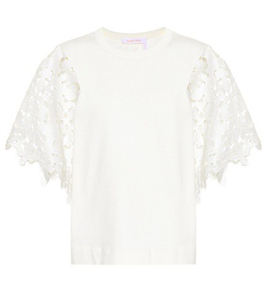 See by Chloe top cotton white