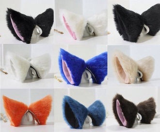 hair accessory cute hair cat ears fluffy cute hair clip