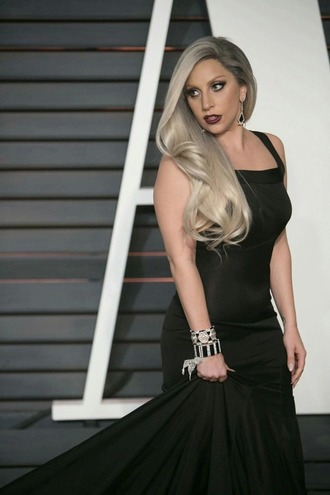 dress lady gaga black dress