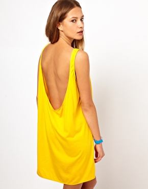 American Apparel | American Apparel Low Back Tank Dress at ASOS