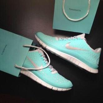 shoes nike running shoes tiffany & co tiffany blue nike free run 3