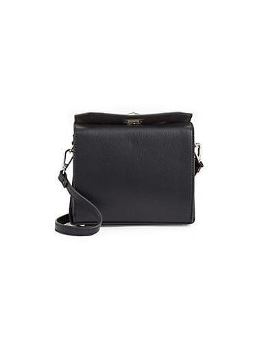 Design Lab Women's Mini Boxy Crossbody Bag - Black