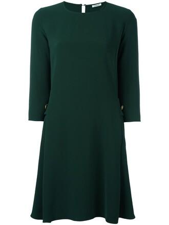 dress women spandex green