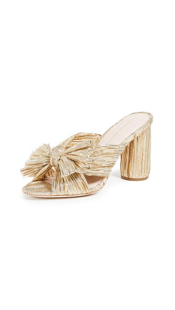 Loeffler Randall Penny Knot Slides in gold