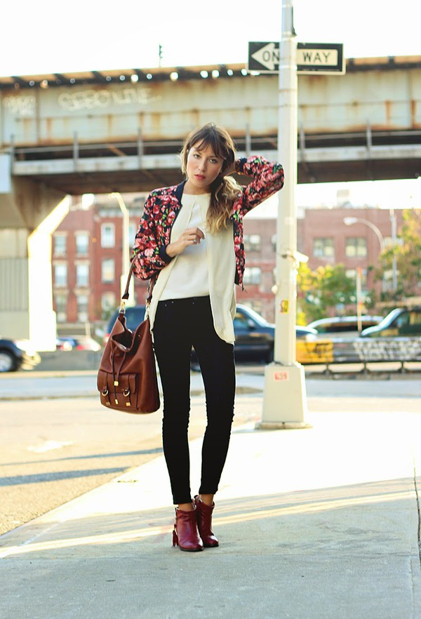 the marcy stop blogger jacket top jeans bag jewels