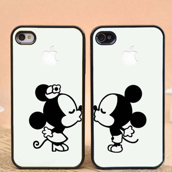 mickey and minnie mouse kissing,apple design for iPhone 4/4s, iPhone 5/5s/5c, Samsung Galaxy S3/S4 Case on Wanelo