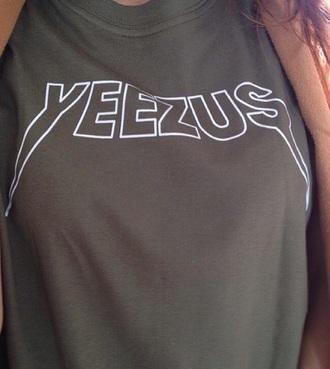 shirt khaki kanye kim kardashians baddies tumblr concert coachella