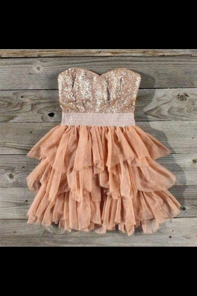 dress glitter dress cute dress beige dress