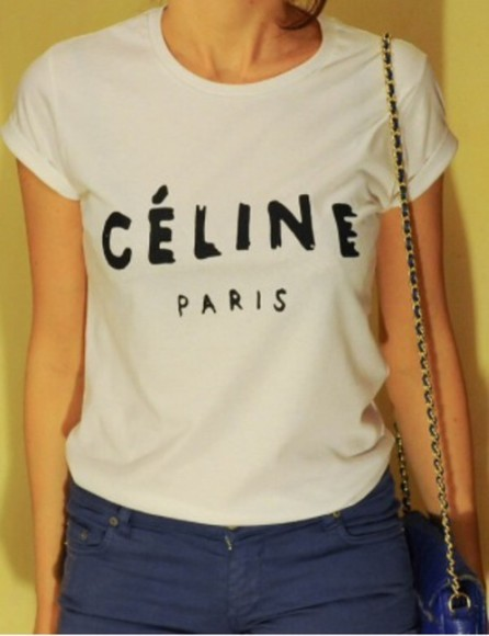 shirt celine celine paris shirt t-shirt celine paris tshirt celine paris tee vogue celine paris t-shirt