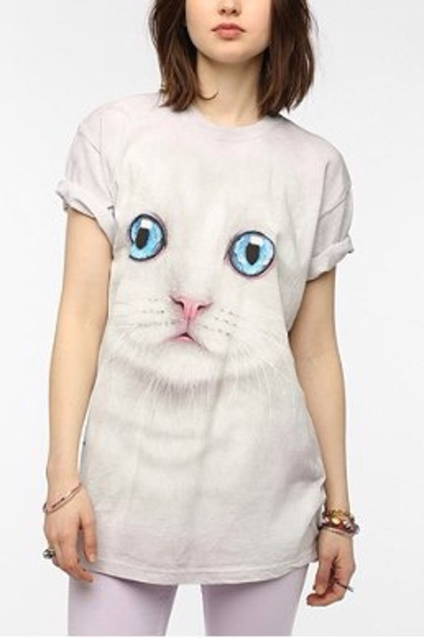 shirt cat tee urban outfitters cats t-shirt dress pink dress party dress mini dress