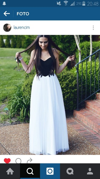 dress black dress white dress prom dress summer dress flowers glamour glitter dress black and white long dress sleeveless dress