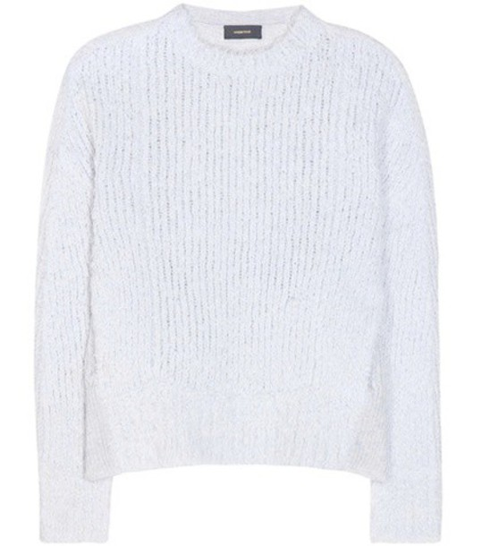 Undercover Cashmere And Wool-blend Knitted Sweater in grey