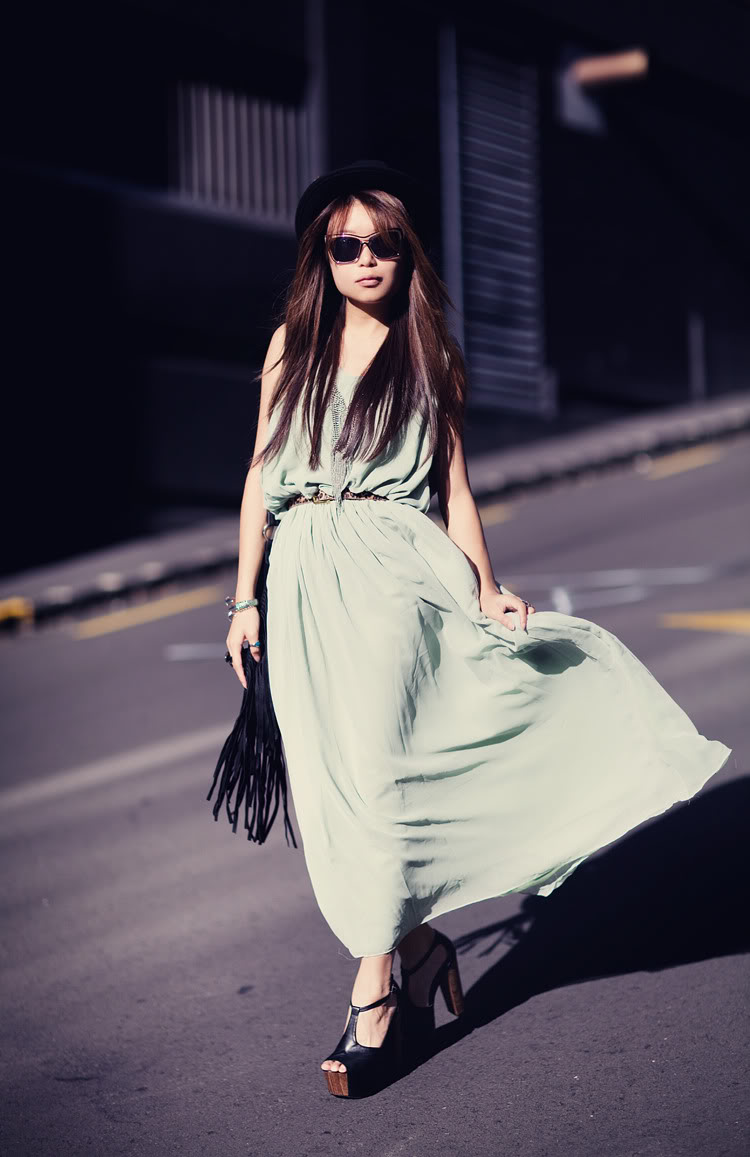 (SOLD) mint green maxi dress | SHOP fashion distraction
