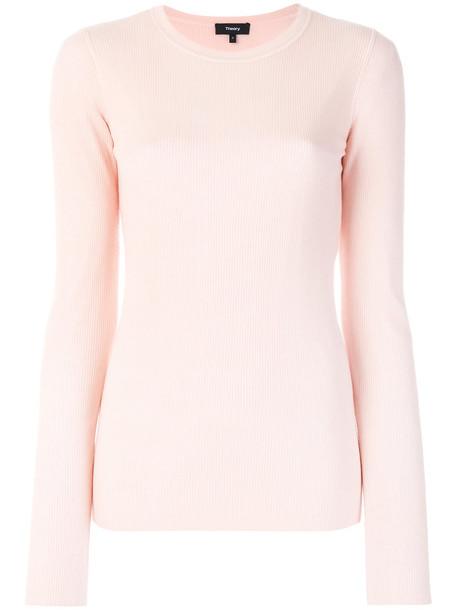 theory jumper women purple pink sweater