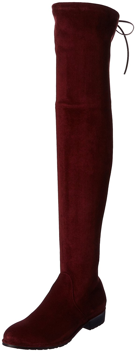 Amazon.com | Kaitlyn Pan Women's Microsuede Flat Heel Over the Knee Thigh High Boots | Over-the-Knee
