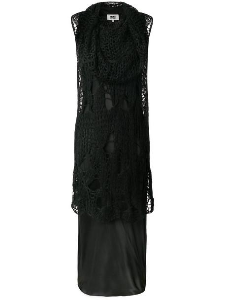 dress women mohair black