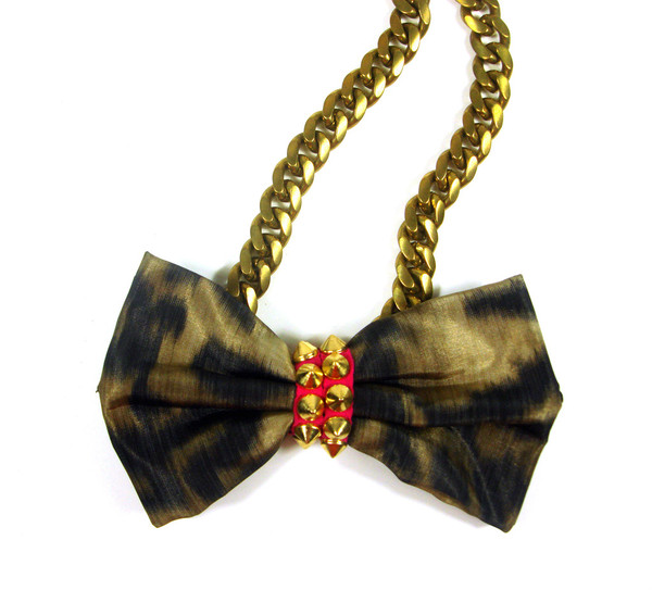 Leopard Bow Necklace | Created by Fortune