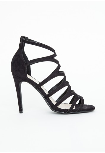 Missguided - Alanah Laser Cut Sandals In Black