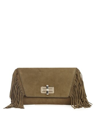 boho clutch dark green bag