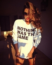 sweater,white,drake,nothing was the same
