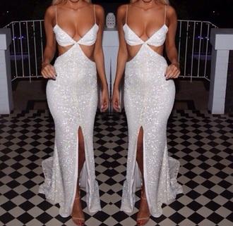 dress sequin silver gown cutout nude nude heels tan fancy strappy dress fancy dress