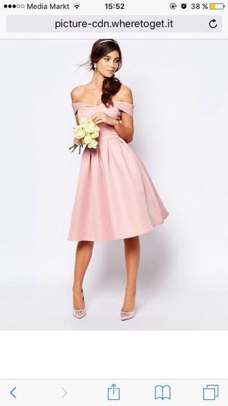 dress rose prom dress