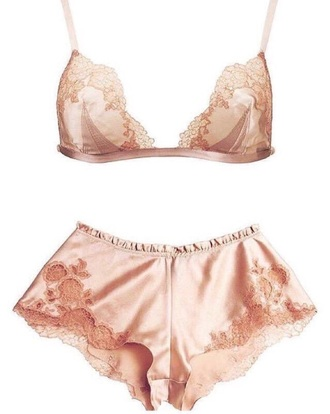 underwear rose gold rose pink bra shorts high waisted shorts