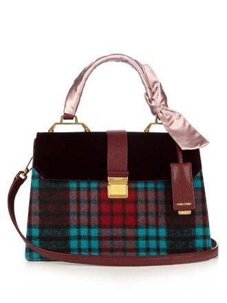 bag shoulder bag leather velvet burgundy