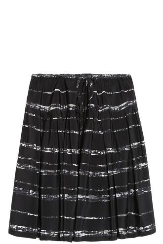 skirt striped skirt black