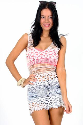 Take Hold Crochet Dress | Foxx Foe