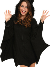 dress,zaful,cosplay,halloween,halloween costume,fashion,goth,cute,bat,style,black,trendy,girly,coat,winter coat,hello october