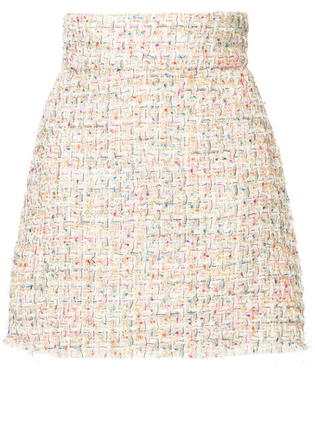 Bambah skirt mini skirt mini women white silk