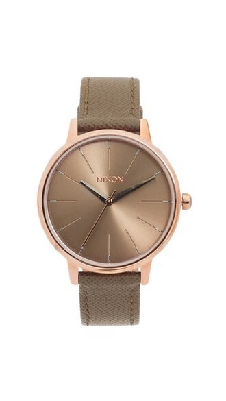 leather watch rose gold rose watch gold leather taupe jewels
