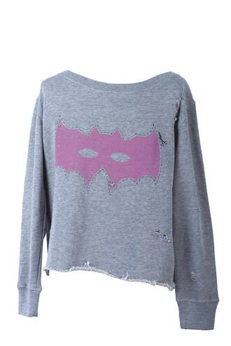 mask sweater batman grey pink