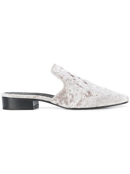 Rag & Bone women leather grey metallic shoes