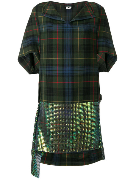 JUNYA WATANABE COMME DES GARÇONS dress women plaid print wool green