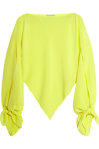 top neon silk yellow bright