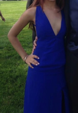 dress blue cobalt deep v neck dress deep v neck deep v v neck slit backless prom prom dress evening dress royal blue dress blue dress floor length dress