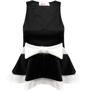top,bow peplum top,gorgeousmode.com,peplum top,party wear,evening top