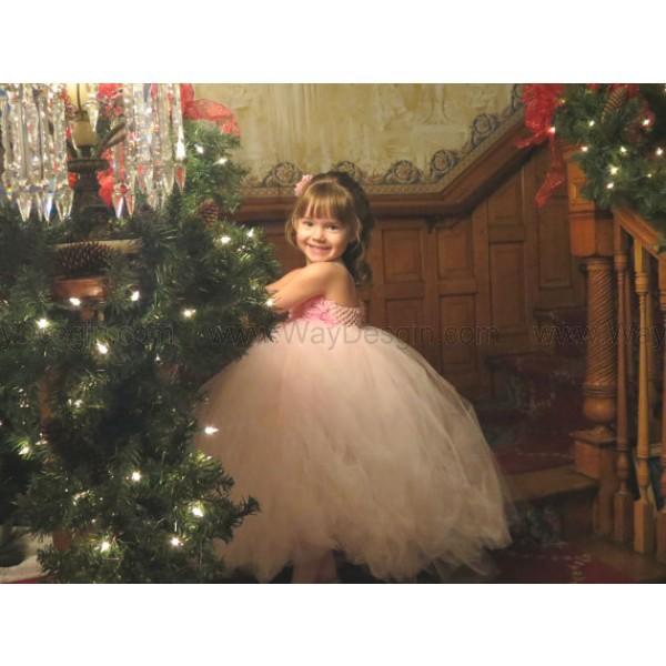 flower girl dress pink flower girl dress christmas kids fashion