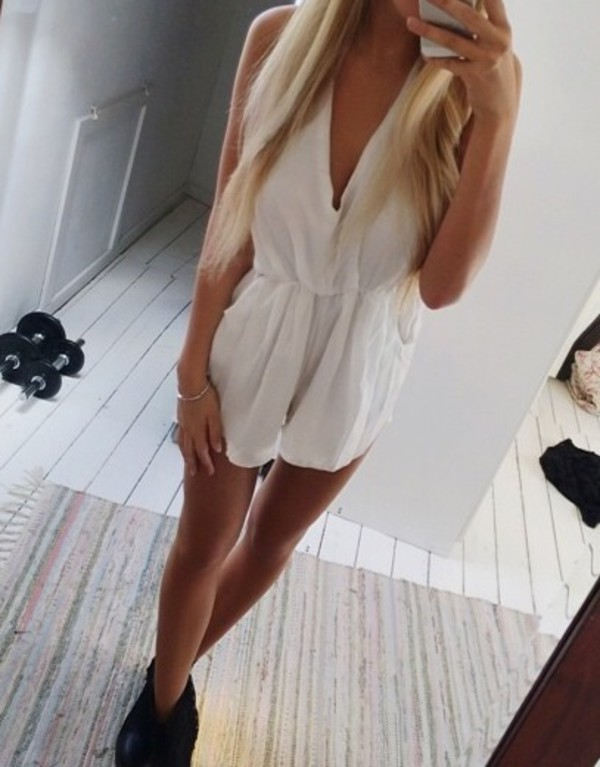 jumpsuit white jumpsuit