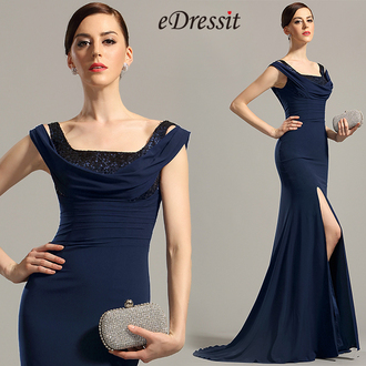 dress edressit navy blue fashion beautiful summer formal evening dress party prom
