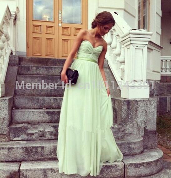 2014 verde salvia vestiti da promenade lungo una zip line piega abitudine fare abiti da damigella abiti in da su Aliexpress.com