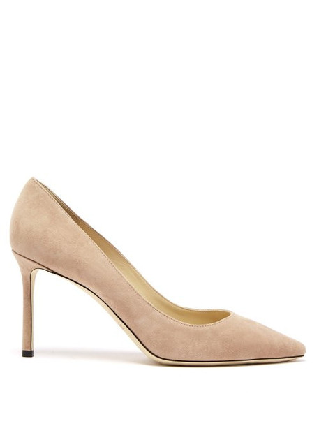 Jimmy Choo - Romy 85 Suede Pumps - Womens - Nude