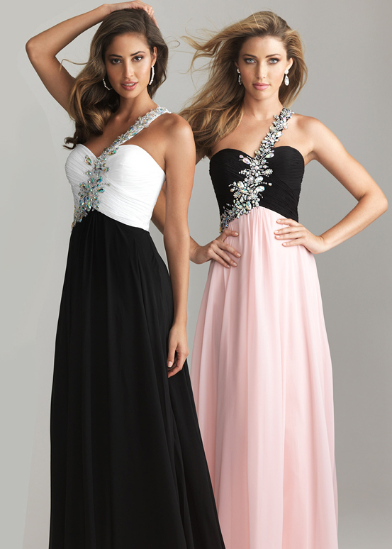 Black blue night moves 6617 chiffon long prom dress [night moves 6617]