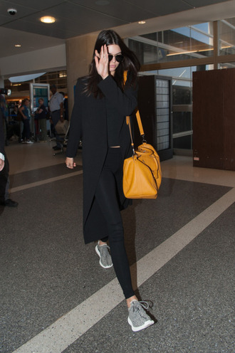 bag top kendall jenner sneakers leggings coat