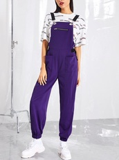 jumpsuit,girly,girl,girly wishlist,on point clothing,purple,overalls